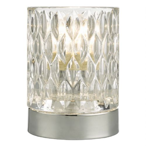 Jill Table Lamp Touch Polished Chrome complete with Glass Shade (Double Insulated) BXJIL4050-17